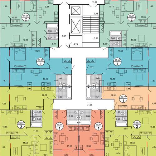 ЖК Достояние план квартир