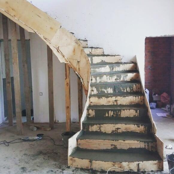 бетон в производстве лестниц на второй этаж