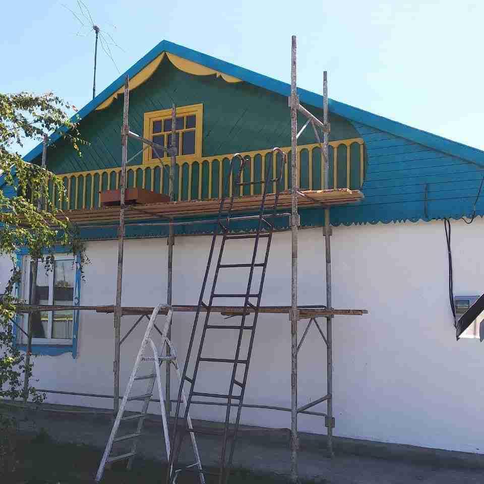 покрасить крышу